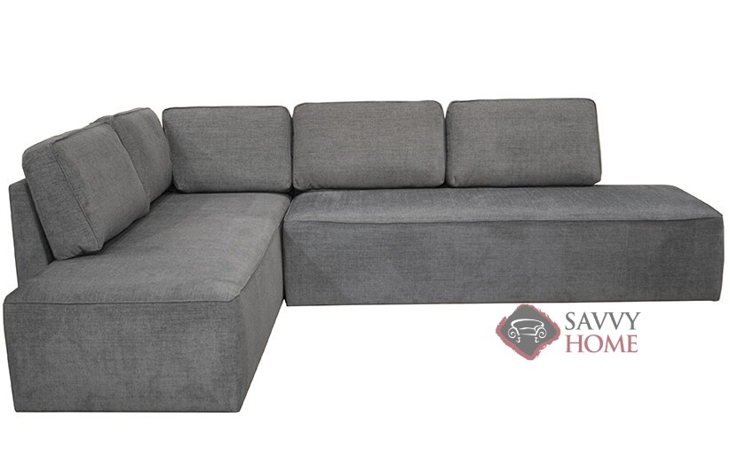 Quick Ship New York By Luonto Fabric Sleeper Sofas Chaise Sectional In Naomi 213 With Fast Shipping Savvyhome