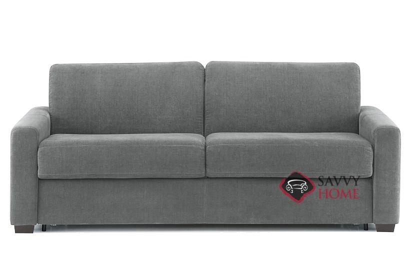Roommate My Comfort 2 Cushion Queen Sleeper Sofa In Vermont Gunmetal