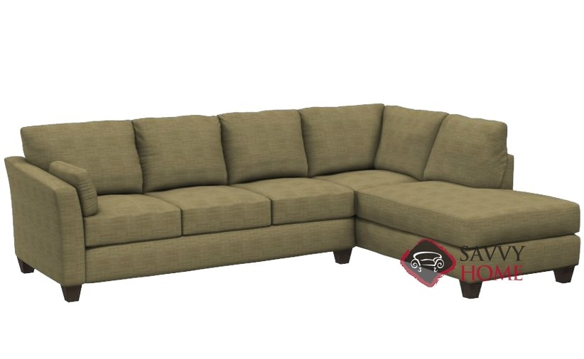 Sienna Chaise Sectional Sleeper Sofa In Spartan Camel