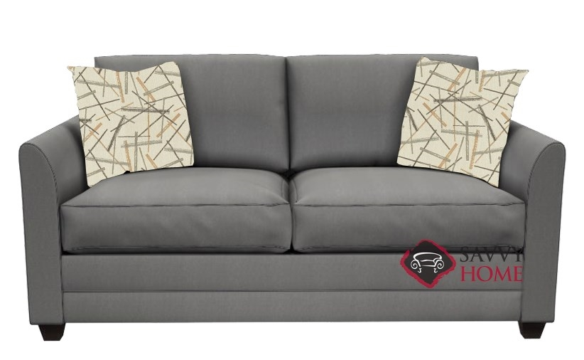 Valencia Full Sleeper Sofa By Savvy In Lily Pewter