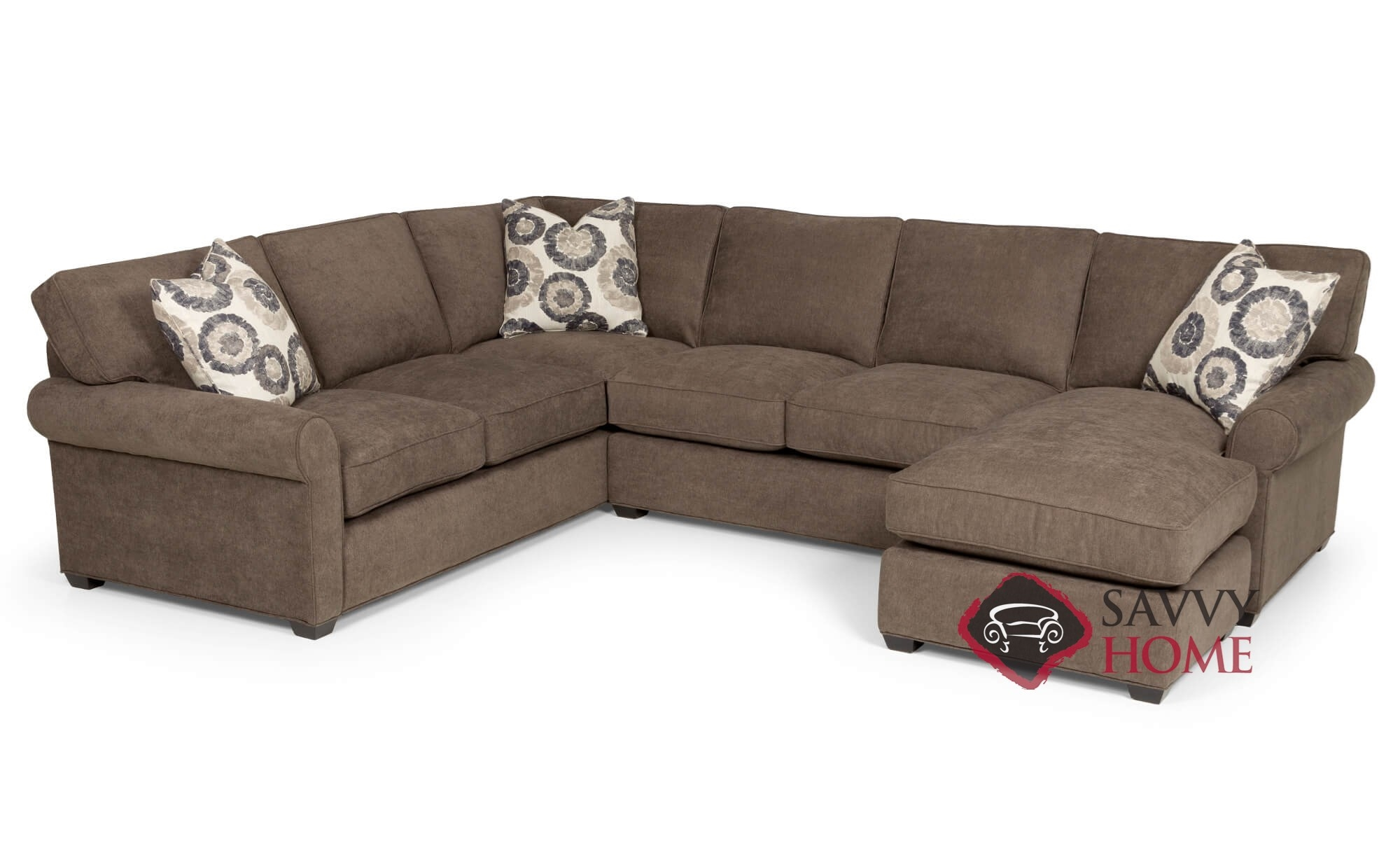 Fabulous The 225 U Shape True Sectional Sofa By Stanton With Down Blend Cushions Caraccident5 Cool Chair Designs And Ideas Caraccident5Info