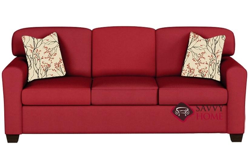 Zurich Queen Sleeper Sofa By Savvy In Oakley Tomato
