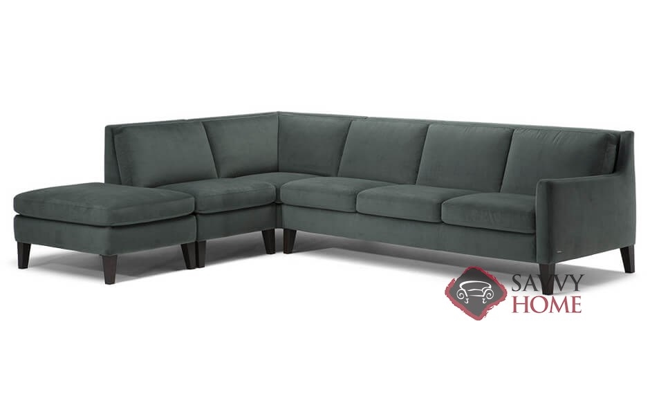 Livenza (C009) Leather Stationary Chaise Sectional by Natuzzi is ...