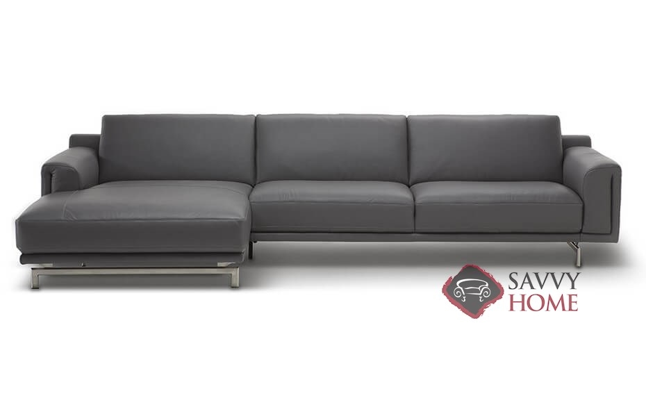 Tresa C019 Leather Stationary Chaise Sectional by Natuzzi is Fully ...