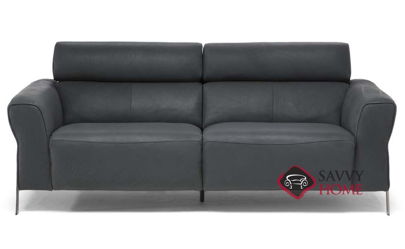 Neto Leather Reclining Studio Sofa By Natuzzi Is Fully