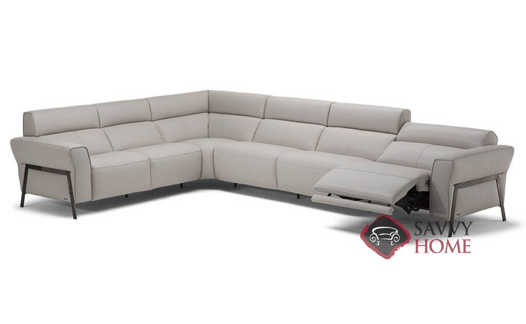 Neto Leather Reclining True Sectional By Natuzzi Is Fully