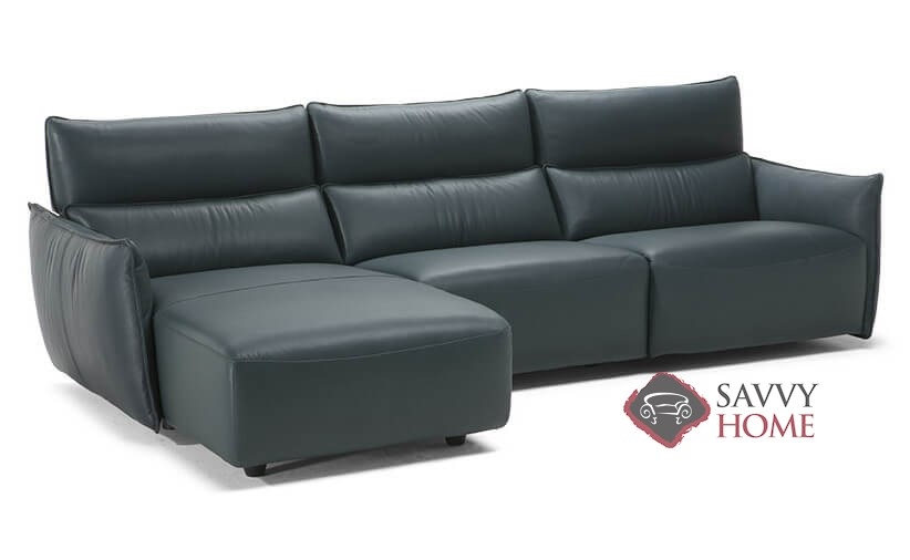 Amusa Power Reclining Leather Chaise Sectional by Natuzzi Editions  (C027-450/452/291/047/049)
