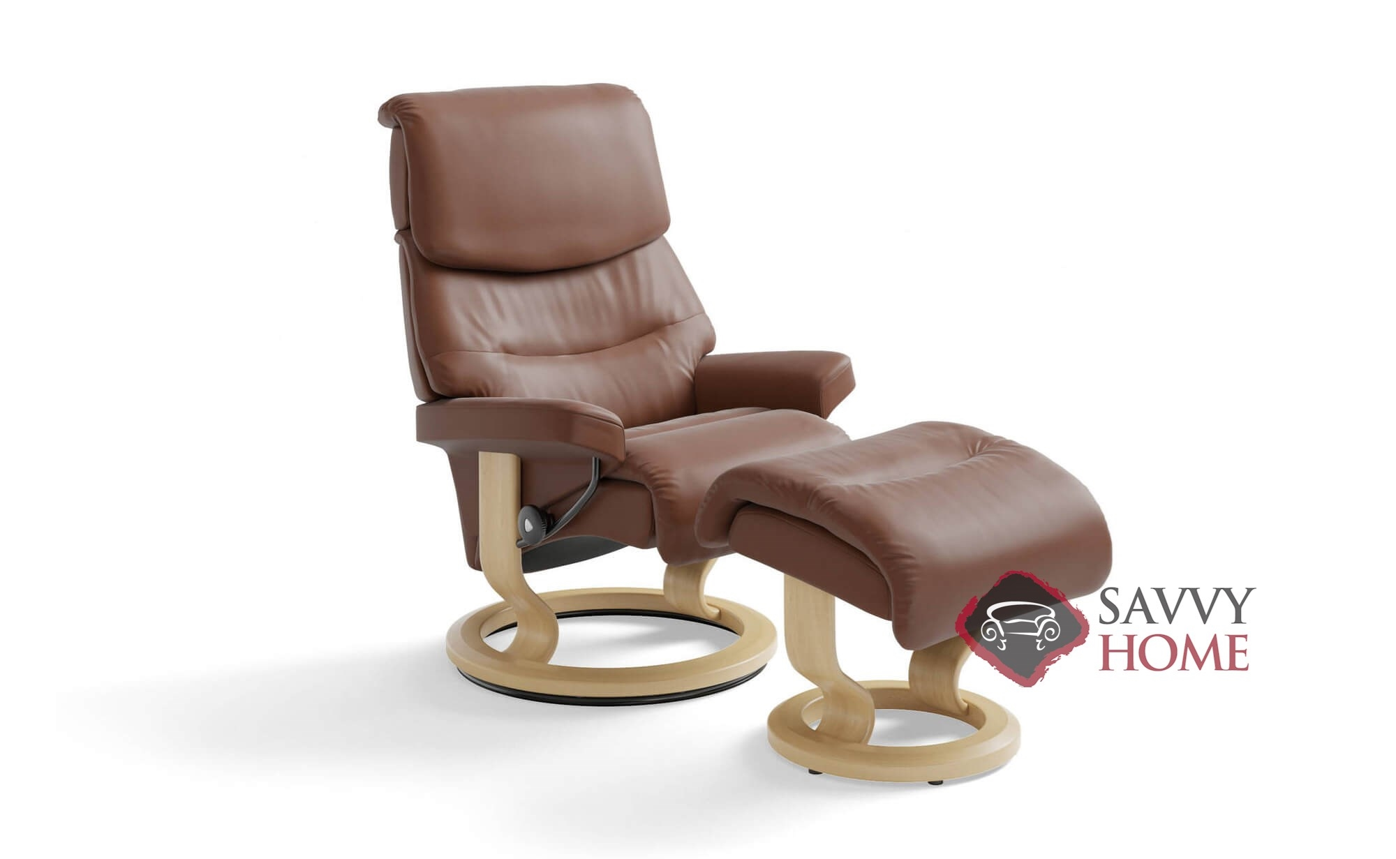 Capri Small Recliner And Ottoman By Stressless
