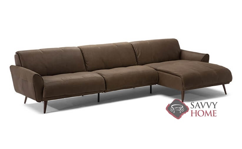 Arno B993 Leather Stationary Chaise Sectional By Natuzzi