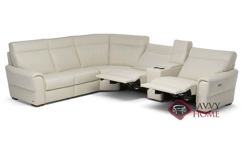 Topino Leather Reclining True Sectional By Natuzzi Is
