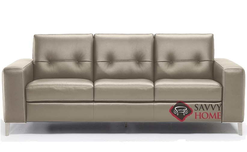 Po B883 266 Queen Leather Sleeper Sofa By Natuzzi Editions With Greenplus Foam