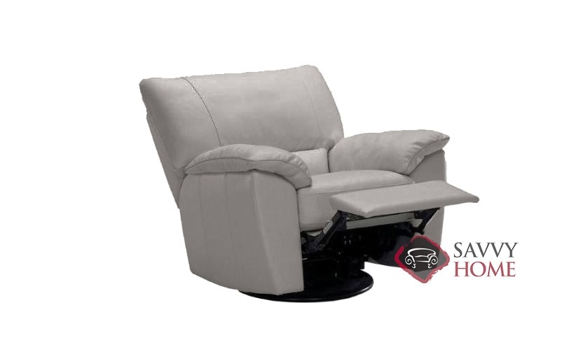 To B632 004 Reclining Leather Chair By Natuzzi Editions In Denver Medium Grey