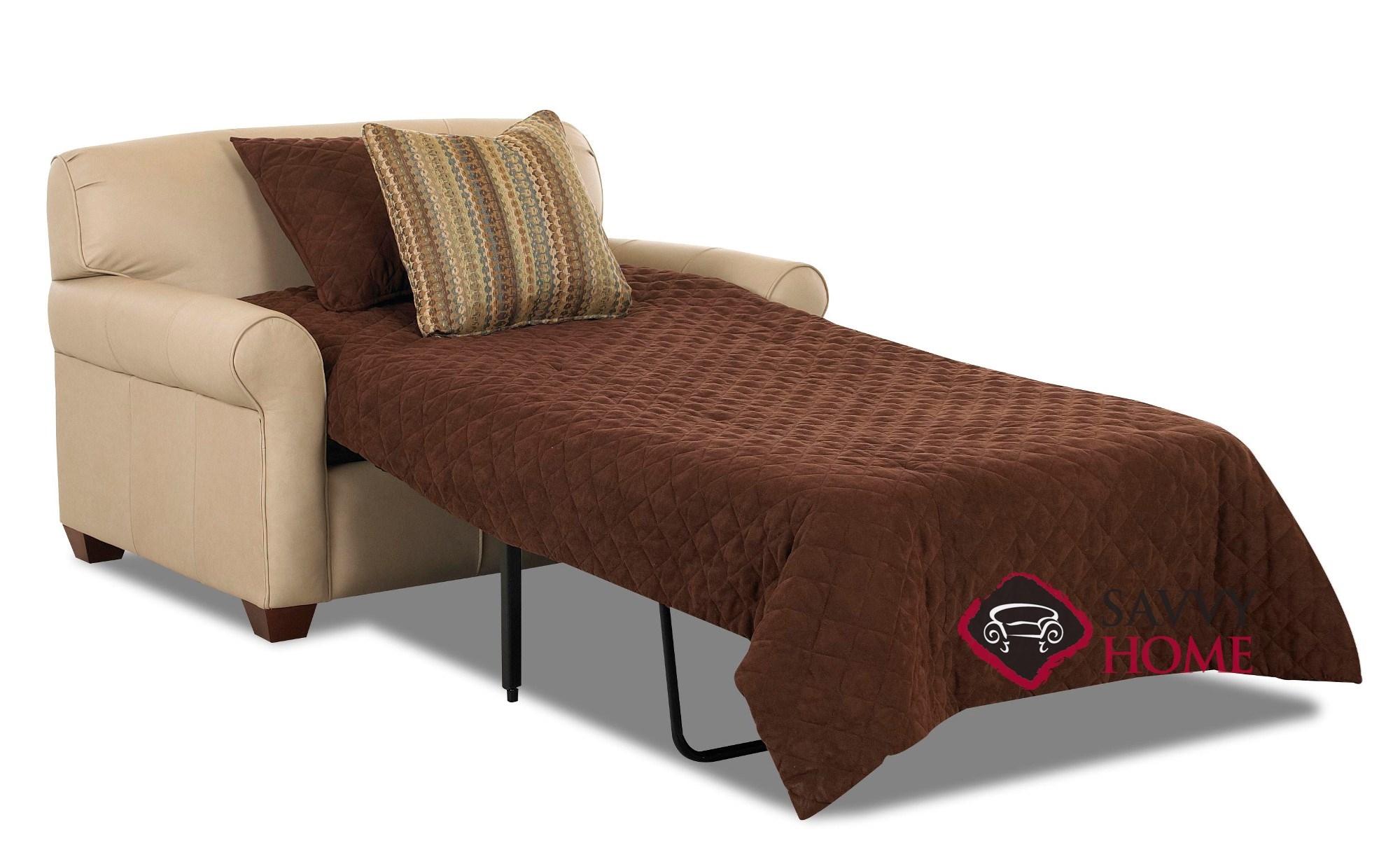 Calgary Fabric Sleeper Sofas Chair By Savvy Is Fully