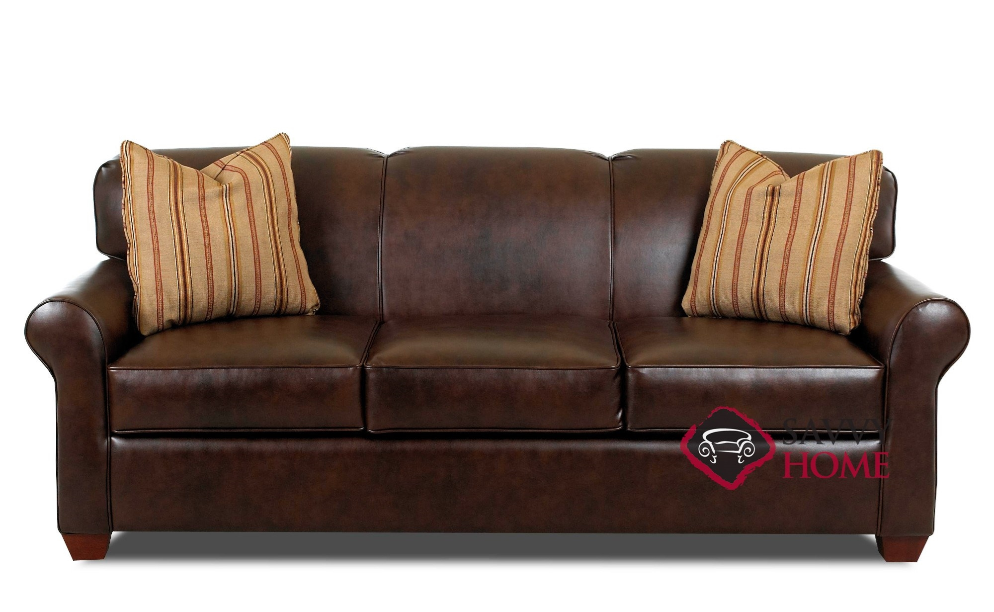 Calgary Leather Queen By Savvy Is Fully Customizable By You  ~ Sleeper Sofa With Real Mattress