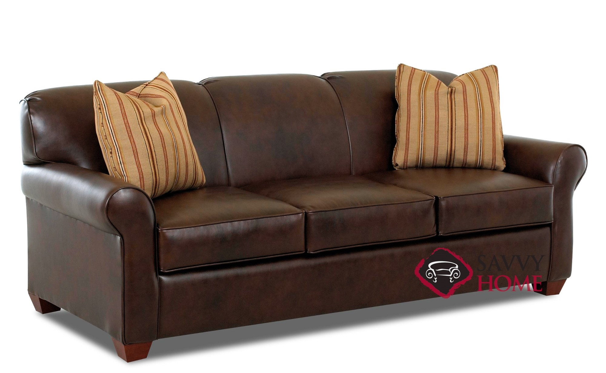 ... Calgary Leather Queen Sleeper Sofa Sideview ...