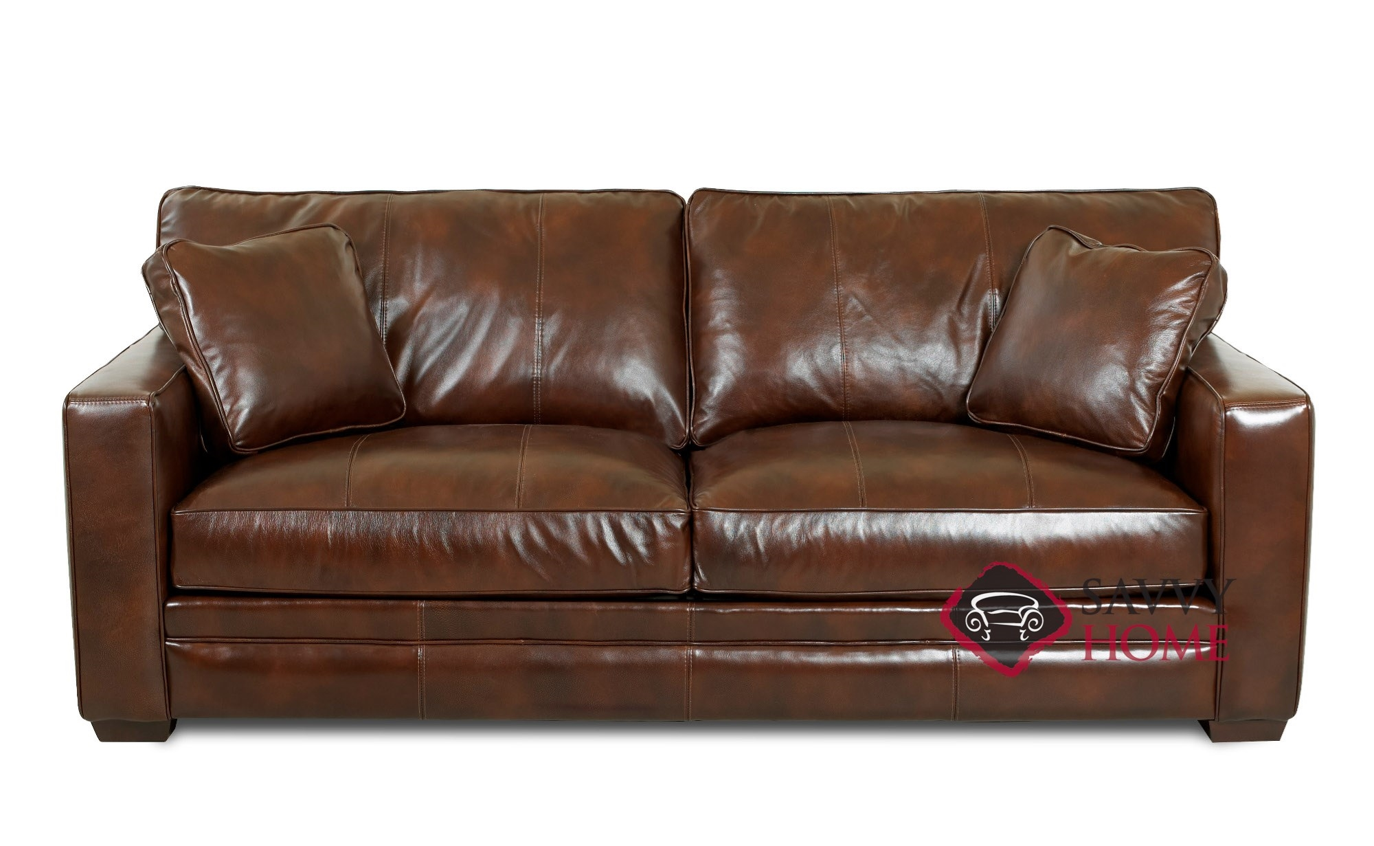 - Chandler Leather Sleeper Sofas Queen By Savvy Is Fully