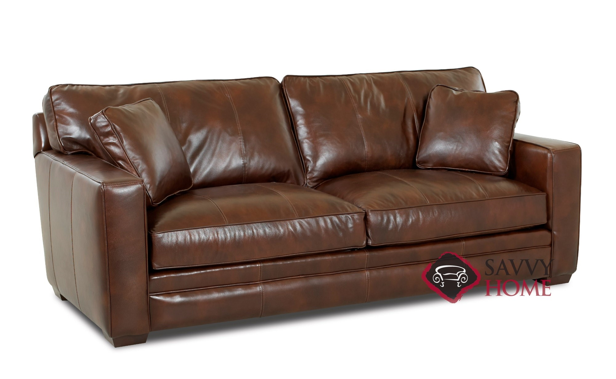 Chandler Leather Sleeper Sofas Queen By Savvy Is Fully Customizable By You | SavvyHomeStore.com