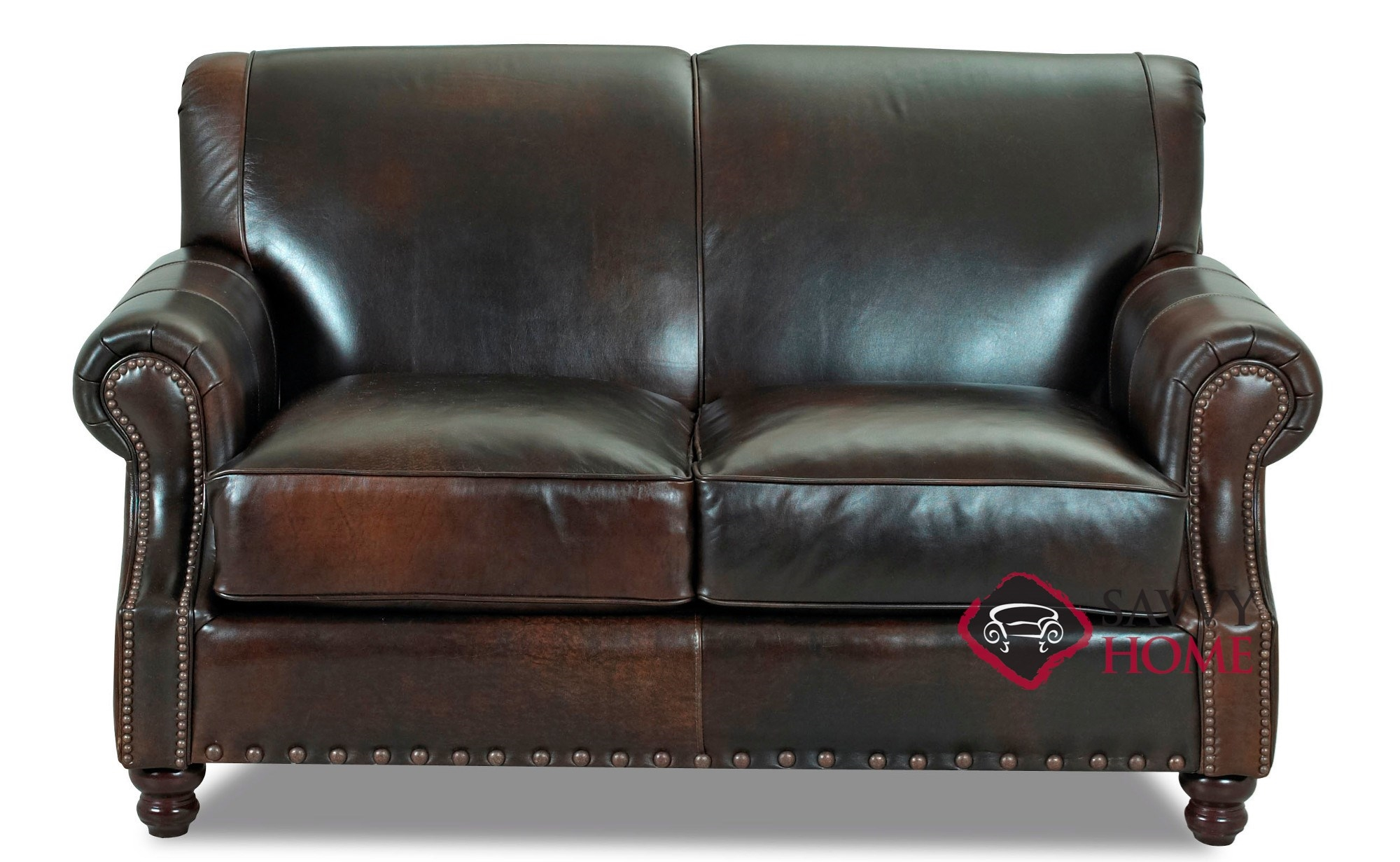 Stupendous Fairbanks Leather Loveseat By Savvy Gmtry Best Dining Table And Chair Ideas Images Gmtryco