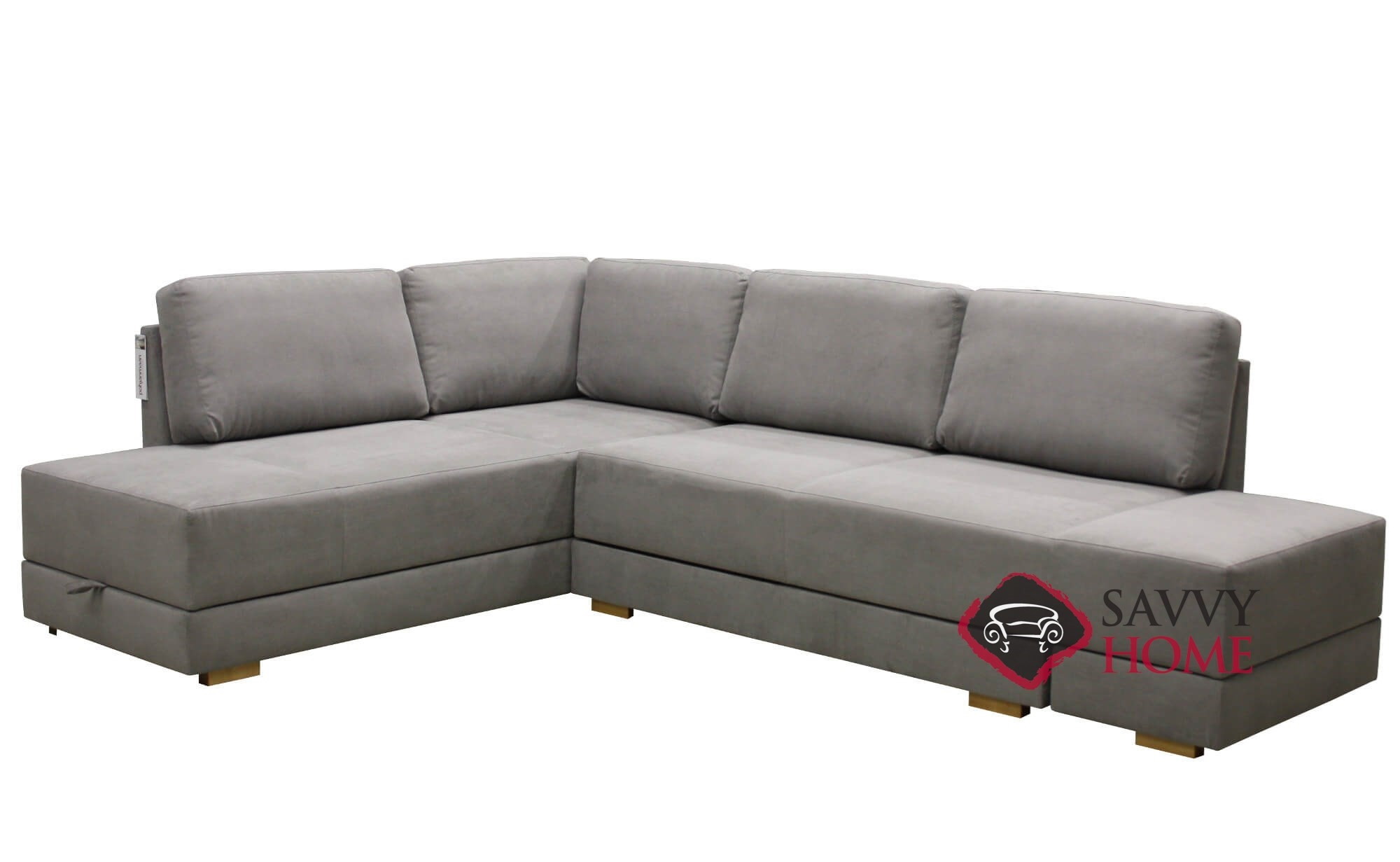 Brooklyn Fabric Sleeper Sofas Chaise Sectional by Luonto is Fully ...
