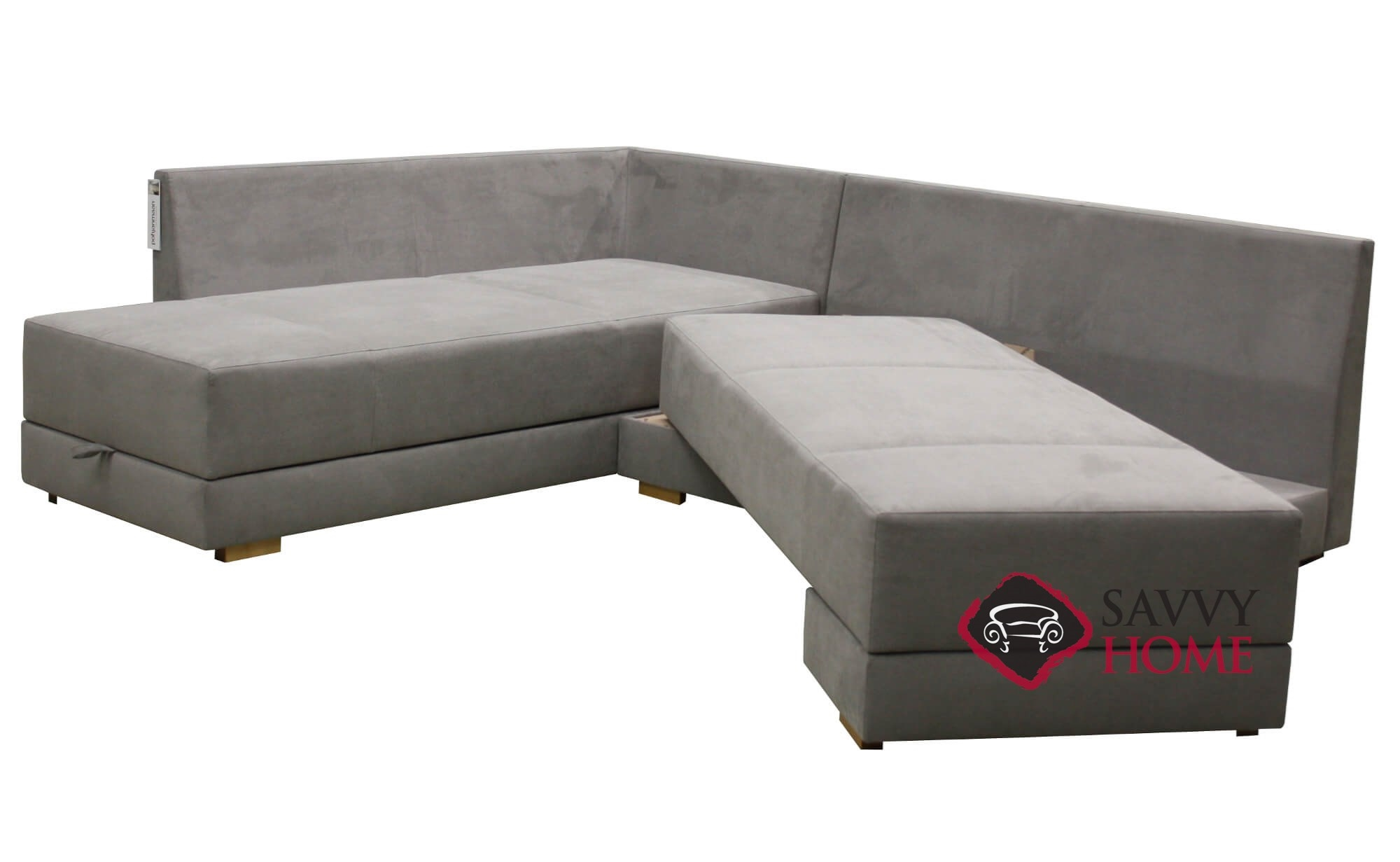 brooklyn fabric sleeper sofas chaise sectional by luonto