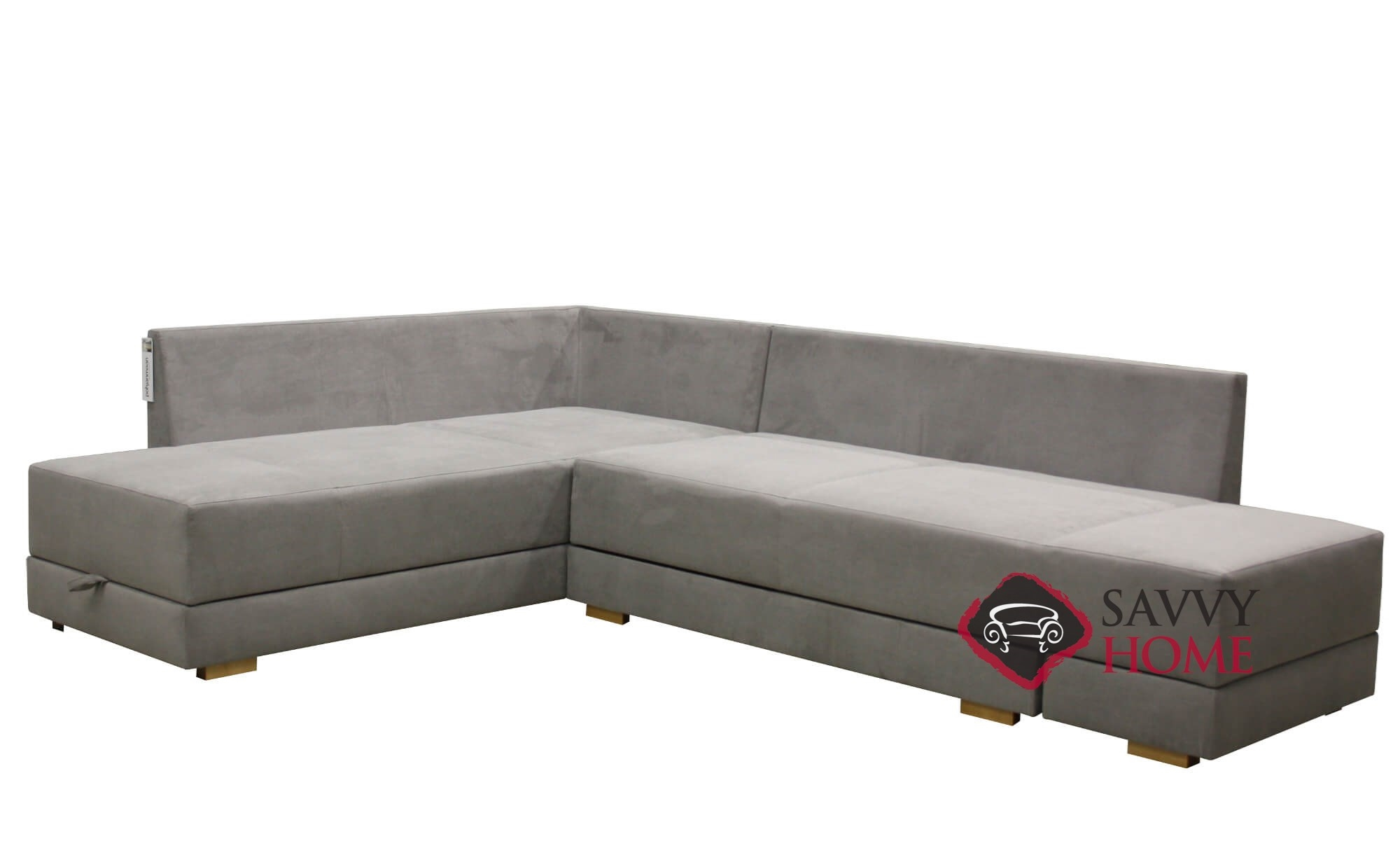 Brooklyn Sectional Queen Sofa Bed with Storage Option by Luonto