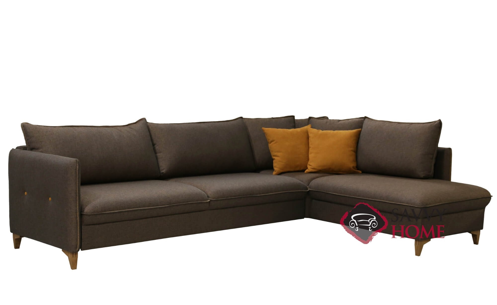 Pepper Chaise Sectional Full Sofa Bed By Luonto
