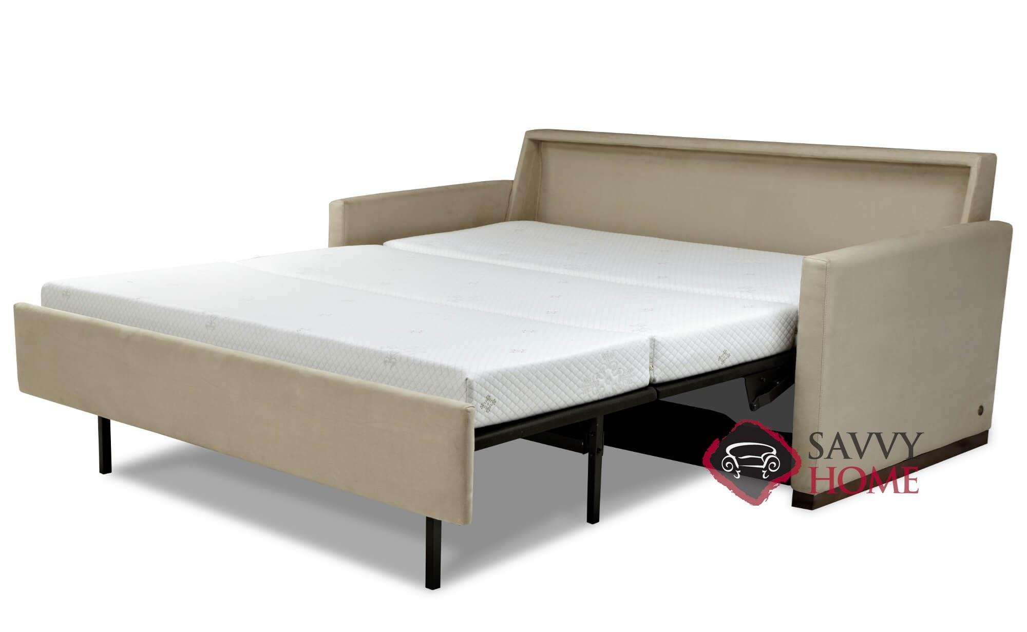 sleeper w mak comfort trim b arm plus by ks products comforter sofa item leather makayla queen roll american nailhead