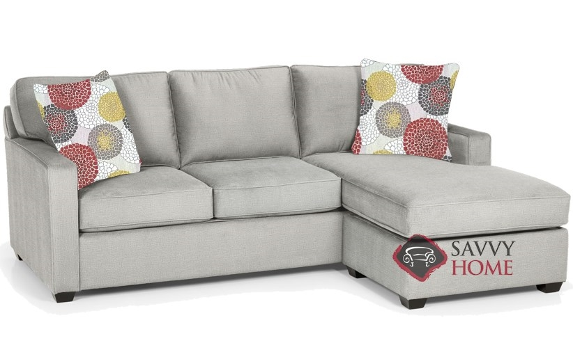 Quick Ship 403 Fabric Sleeper Sofas Chaise Sectional In Luscious Platinum By Stanton With Fast Shipping Savvyhome