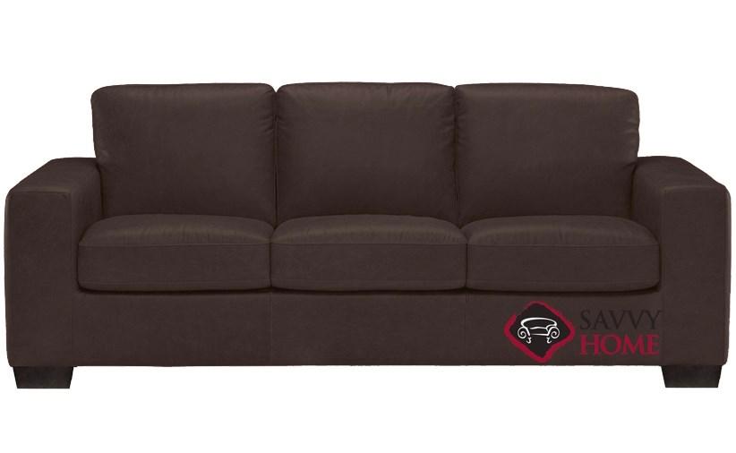 Amazing B534 Natuzzi Queen Sleeper Sofa In Urban Bark