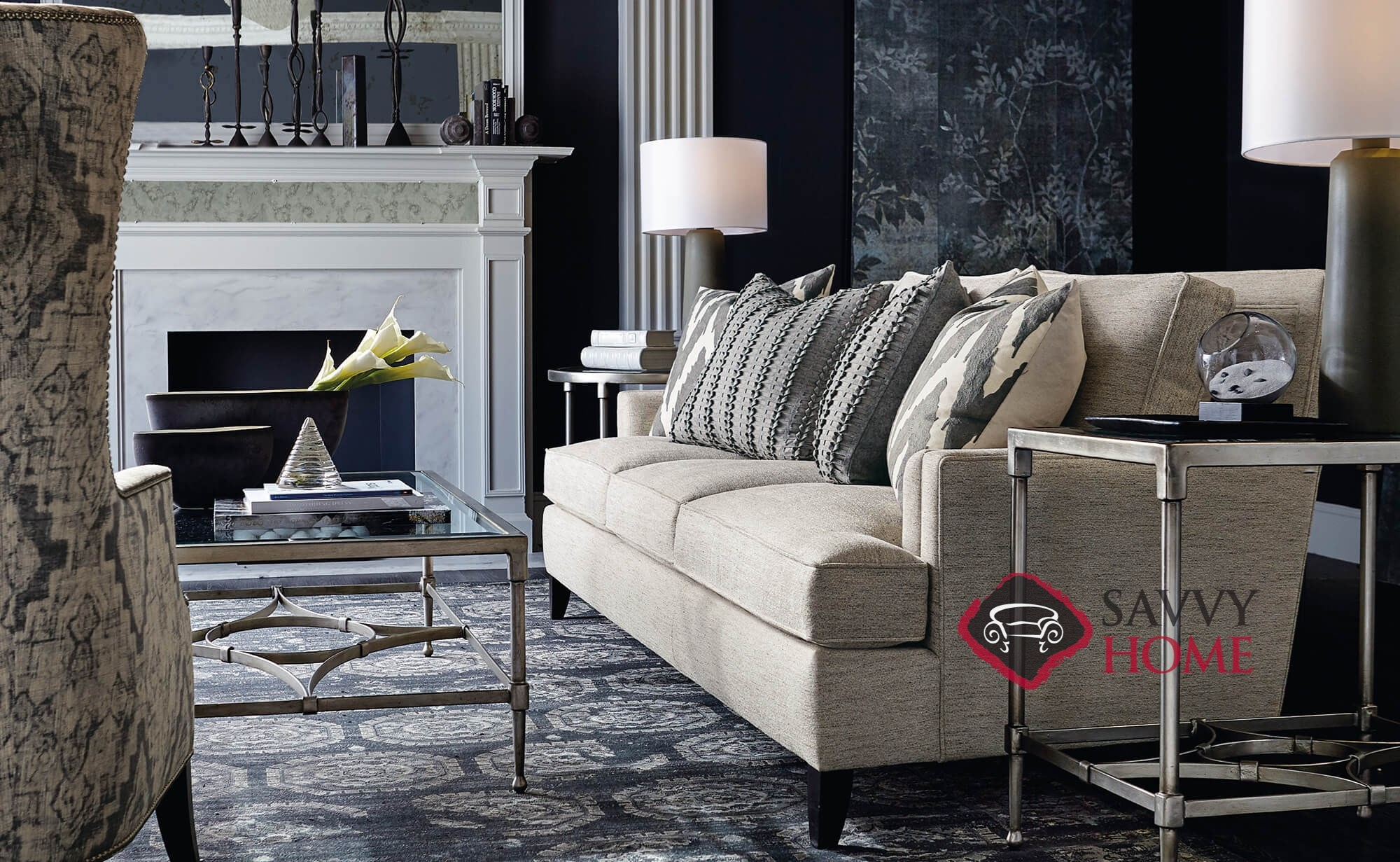 ... Addison Sofa With Down Blend Cushions By Bernhardt In 1011 002 In Room  ...
