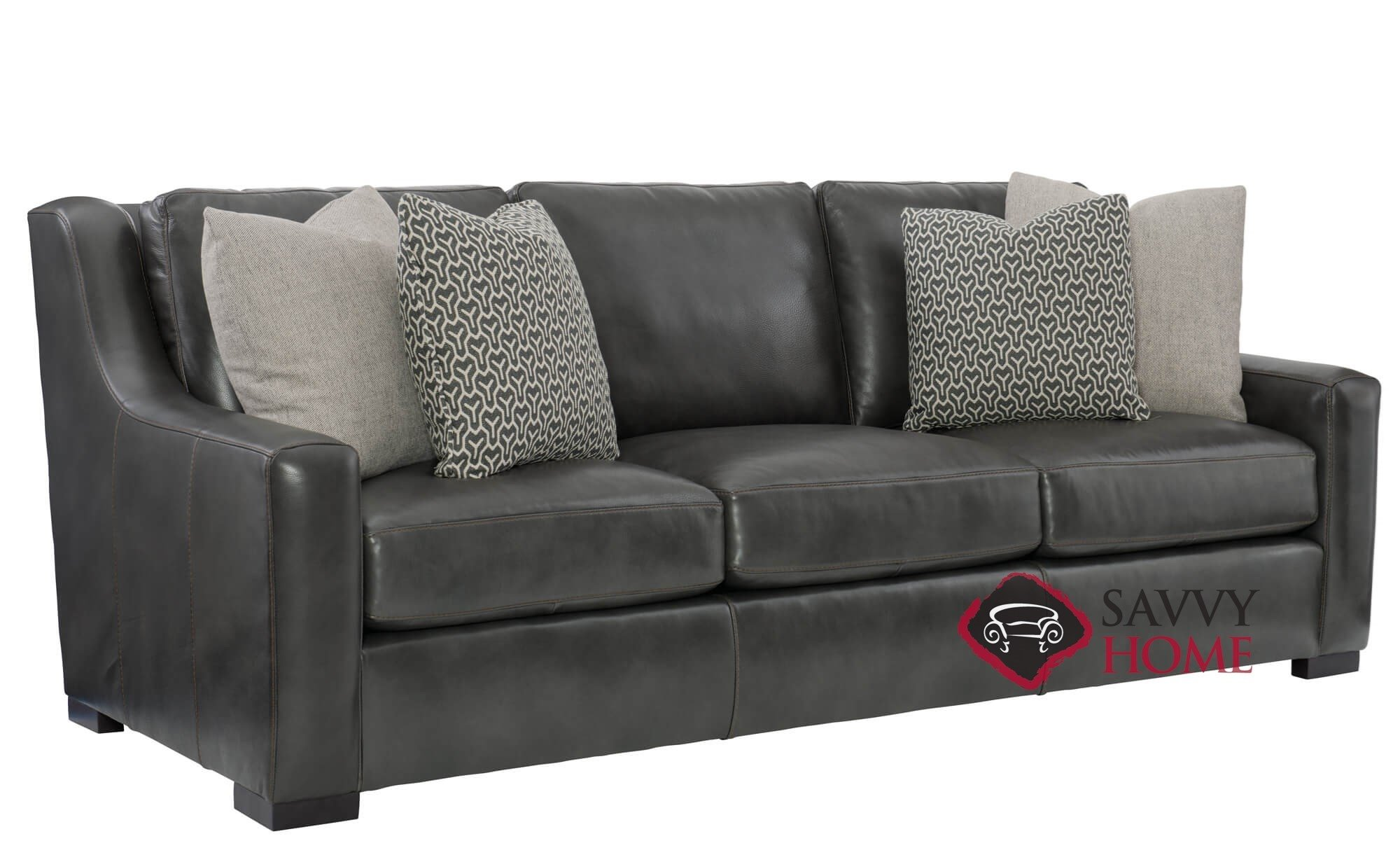 Awe Inspiring Quick Ship Germain By Bernhardt Leather Stationary Sofa In By Bernhardt With Fast Shipping Savvyhomestore Com Pdpeps Interior Chair Design Pdpepsorg