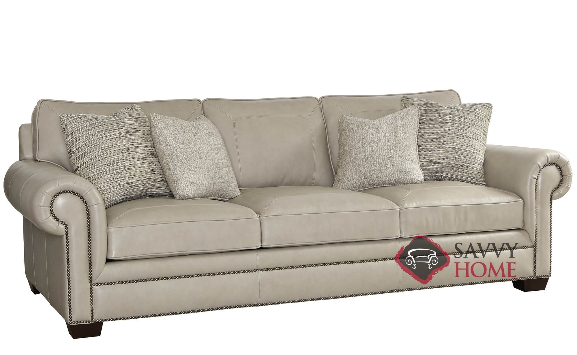 Grandview Leather Sofa With Down Blend Cushions By Bernhardt 266 202