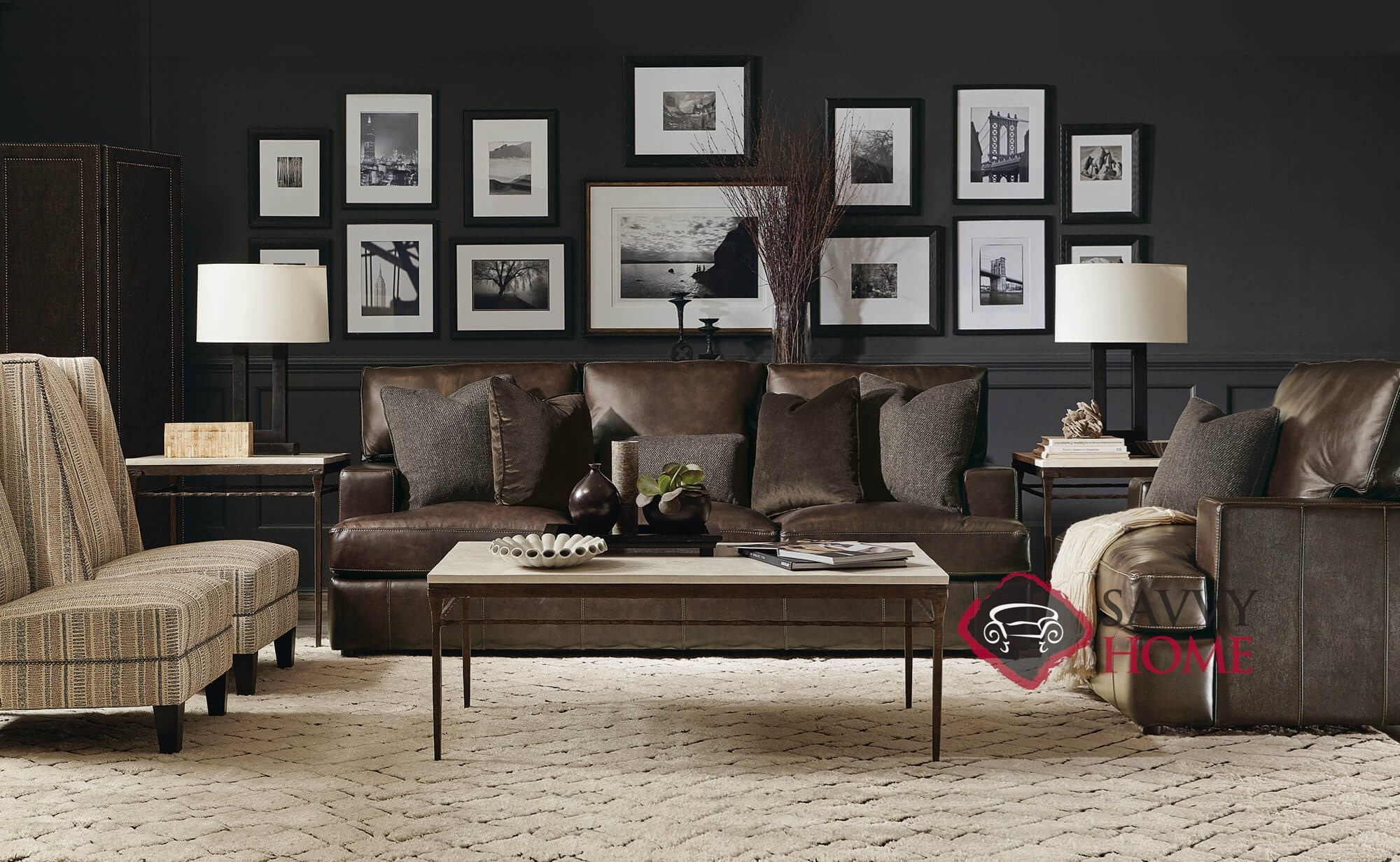 Terrific Quick Ship Winslow By Bernhardt Leather Stationary Sofa In By Bernhardt With Fast Shipping Savvyhomestore Com Gmtry Best Dining Table And Chair Ideas Images Gmtryco