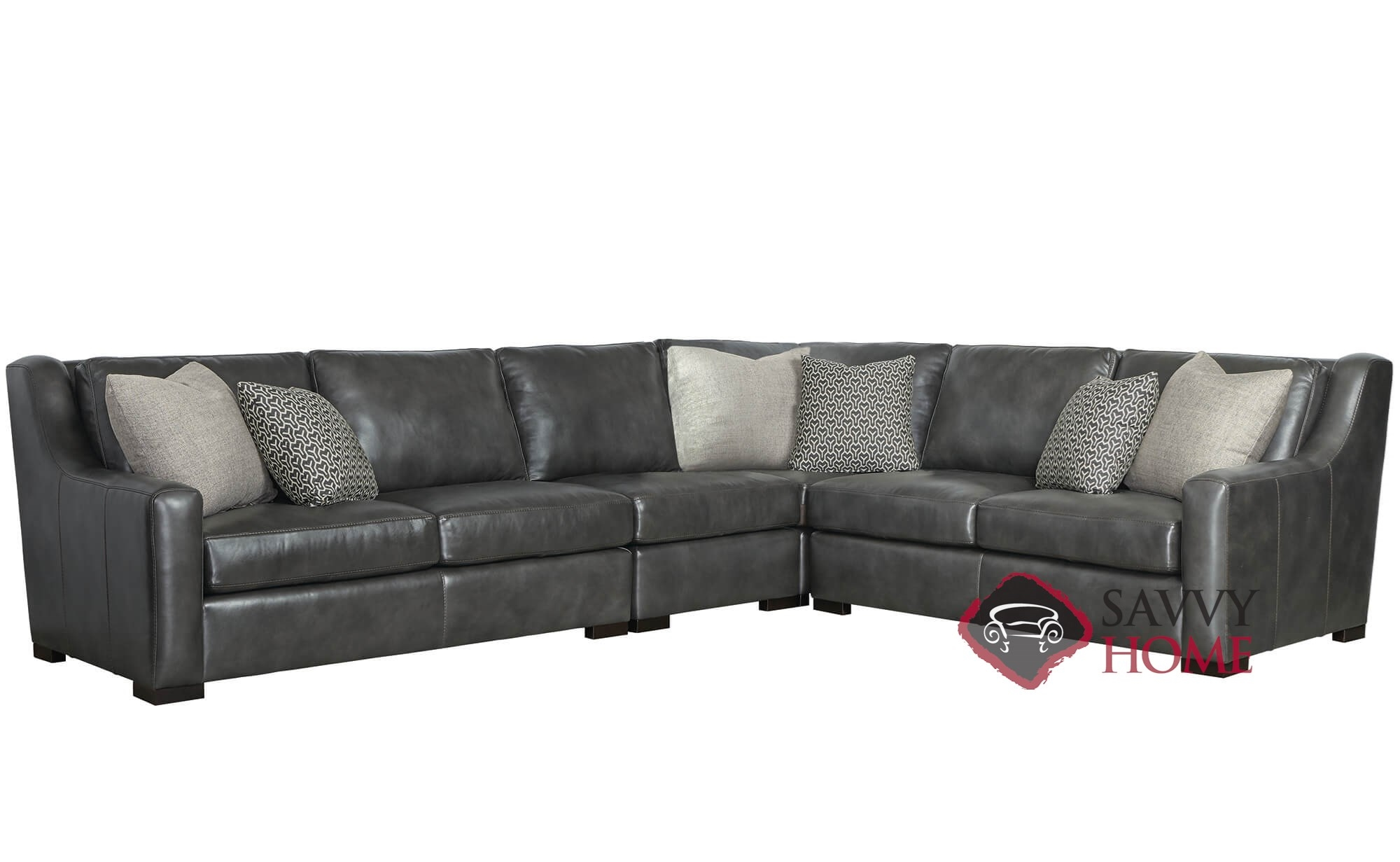 Quick Ship Germain By Bernhardt Fabric Stationary True Sectional In By Bernhardt With Fast