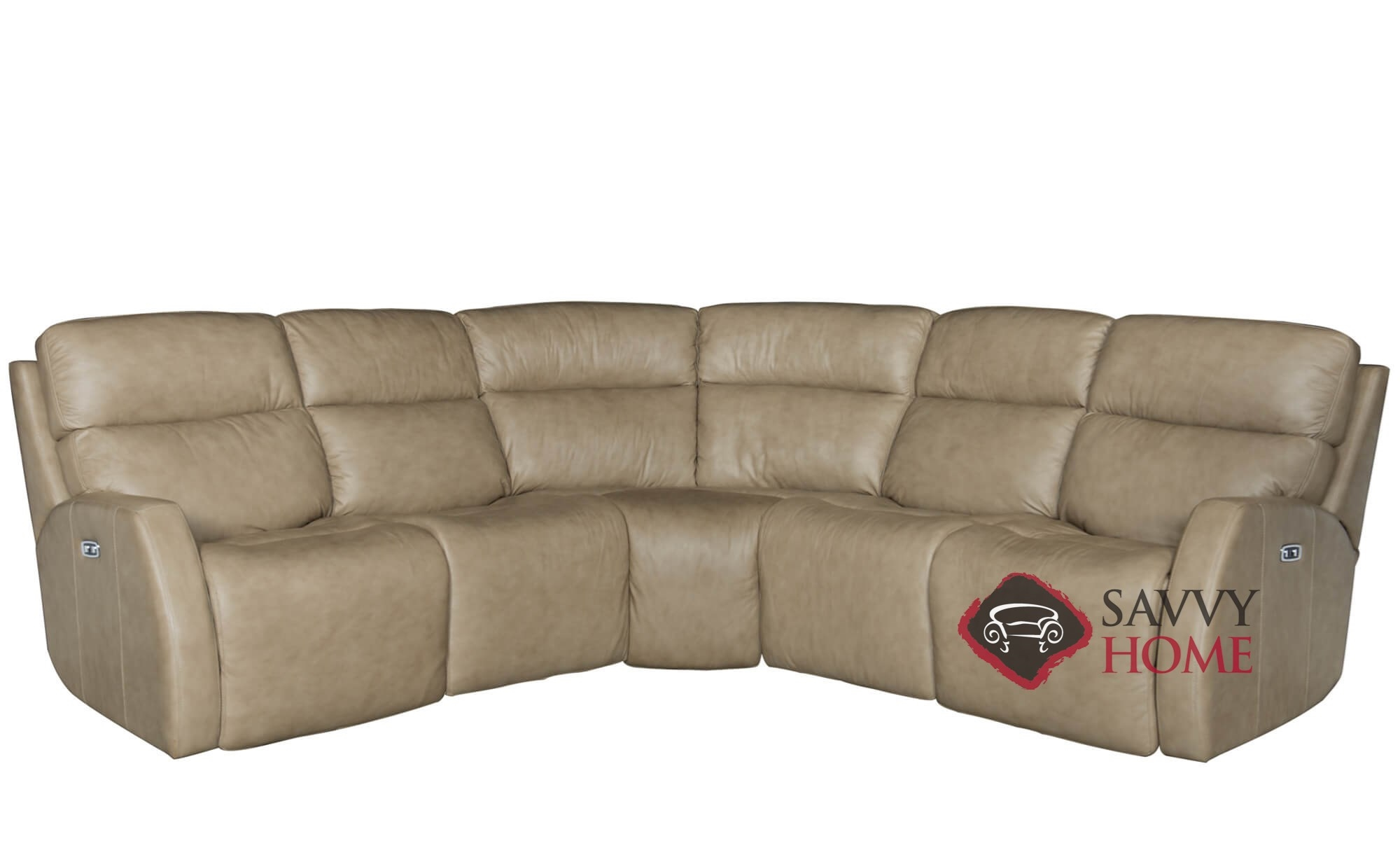 Quick ship aaron by bernhardt leather true sectional in by for Sectional sofa aarons