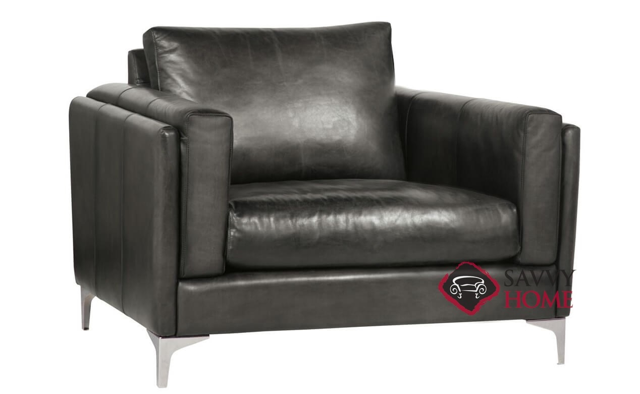 Etonnant Malcolm Leather Chair With Down Blend Cushion By Bernhardt In 184 110