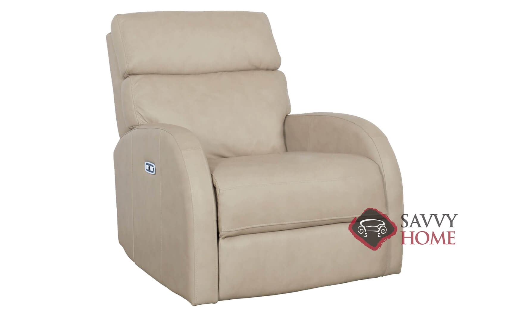 Clemens Power Reclining Leather Chair With Down Blend Cushion By Bernhardt  In 305 200