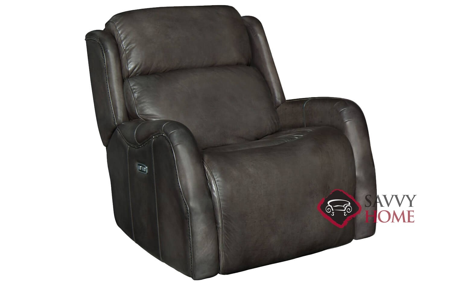 Derek Power Reclining Leather Chair With Down Blend Cushion By Bernhardt In  232 012