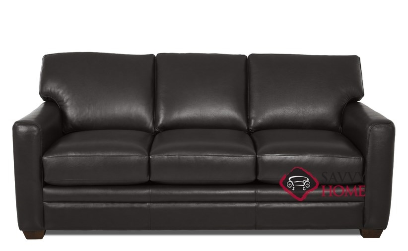Sensational Quick Ship Bel Air Leather Sleeper Sofas Queen In Durango Black By Savvy With Fast Shipping Savvyhomestore Com Ocoug Best Dining Table And Chair Ideas Images Ocougorg