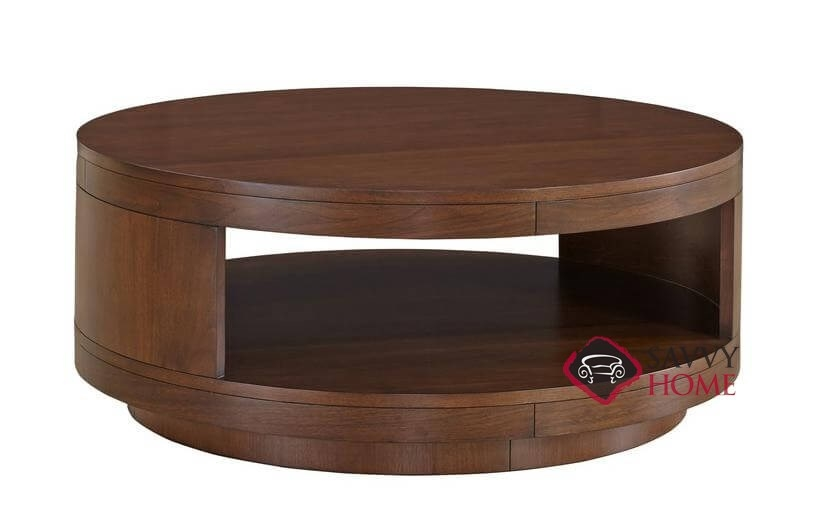 Turano Round Tail Table With Veneer Top And Casters By Palliser