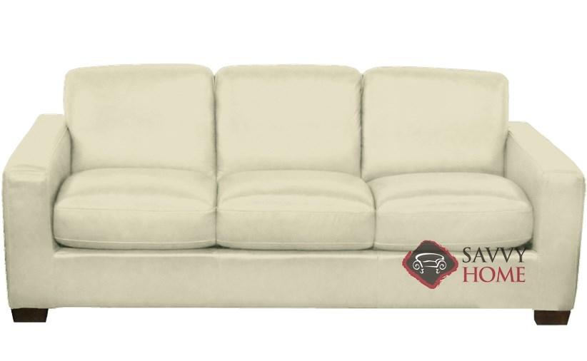 B534 Natuzzi Queen Sleeper Sofa In Urban Crema
