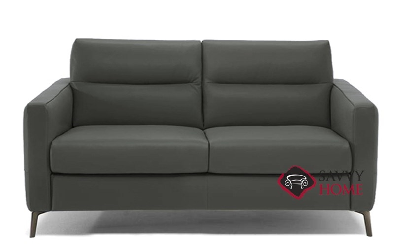 Merveilleux Caffaro (C008 264) Full Leather Sleeper Sofa By Natuzzi Editions In Urban  Charcoal