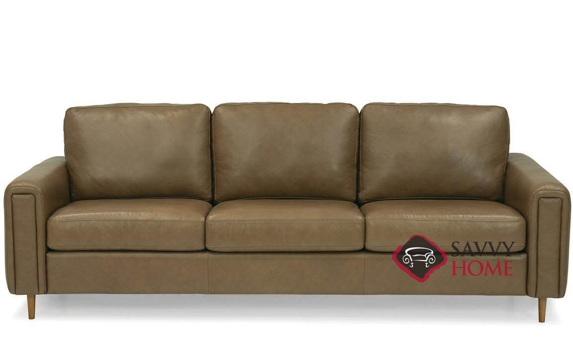 Alma high leg leather sofa by palliser