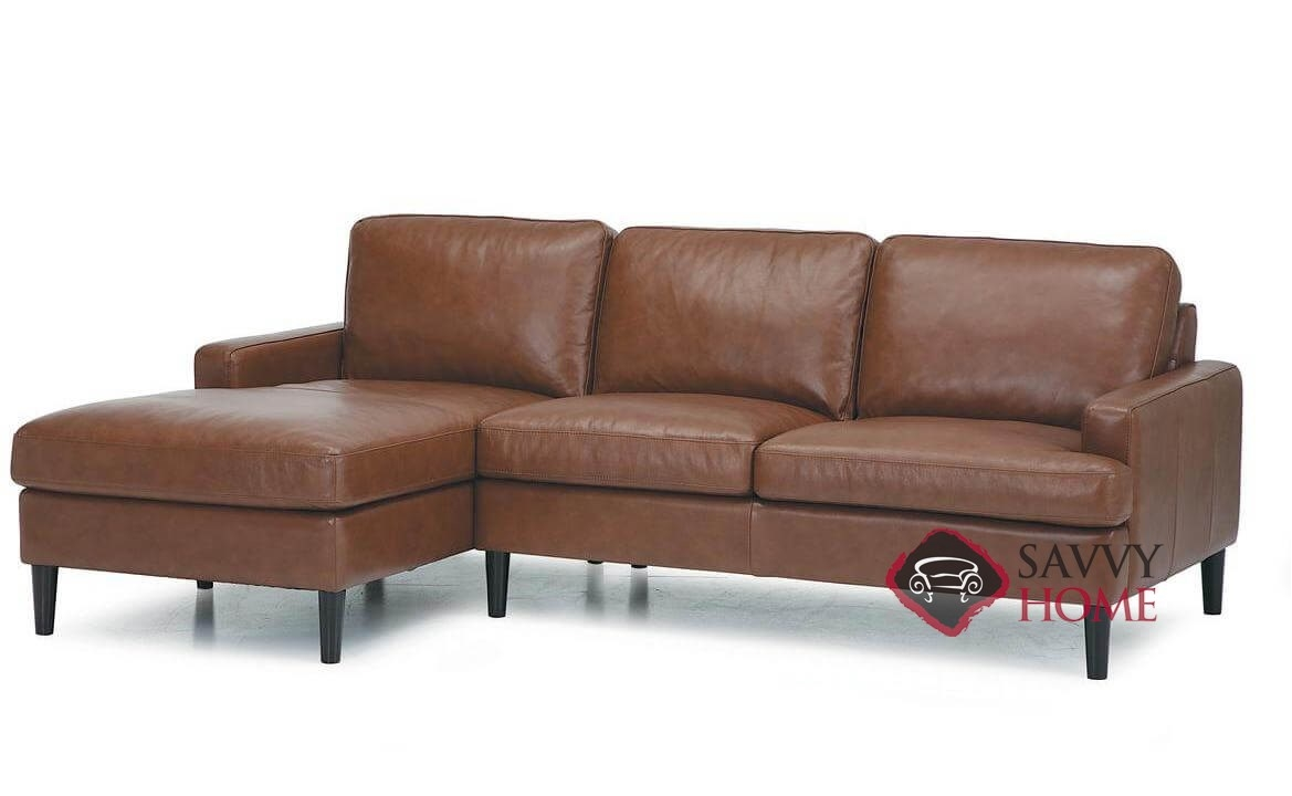Remington Leather Stationary Chaise Sectional by Palliser is Fully ...