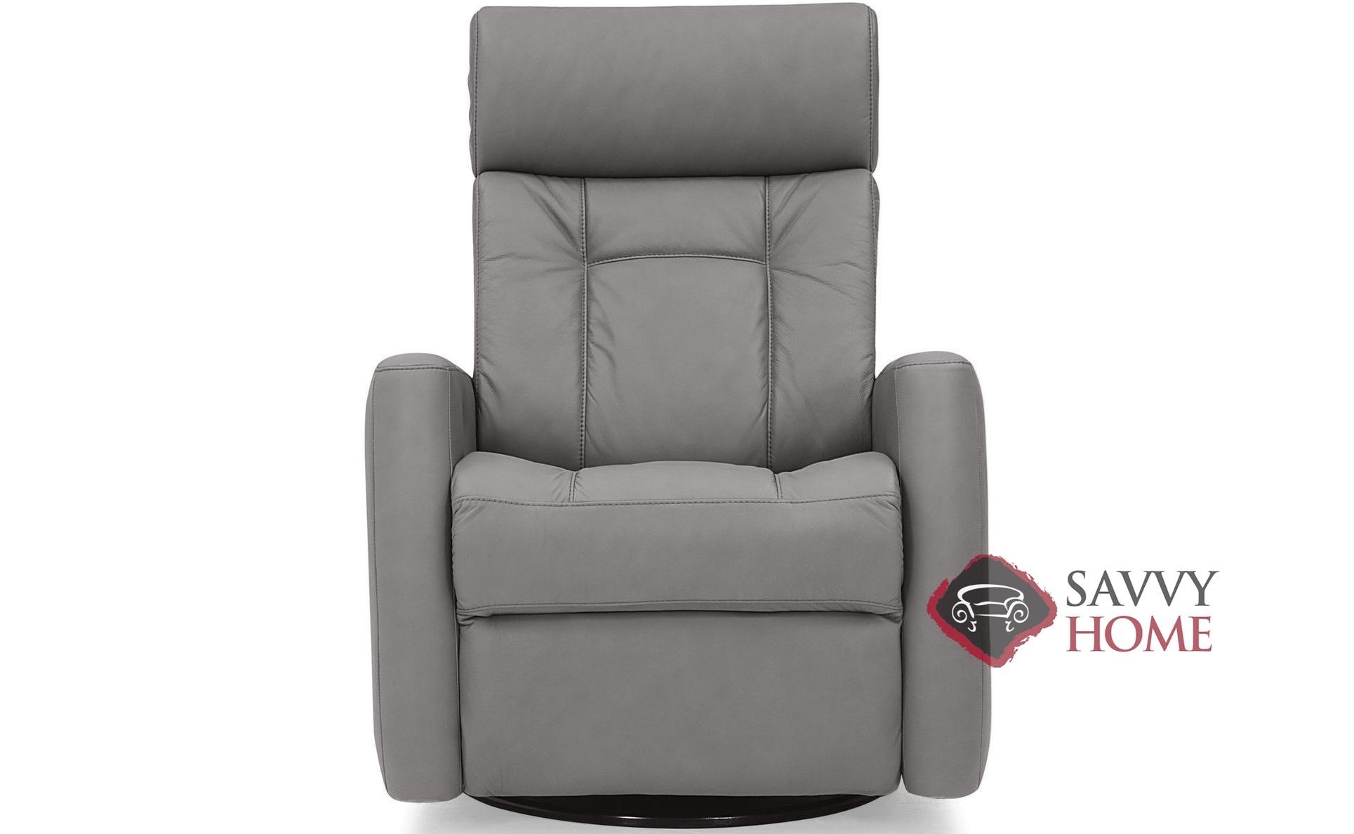 West Coast II My Comfort Power Reclining Leather Swivel Chair With Power  Headrest By Palliser
