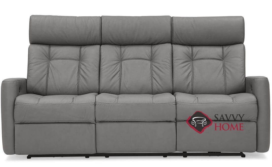 West Coast II Dual Reclining Top-Grain Leather Sofa with Power Headrest by  Palliser
