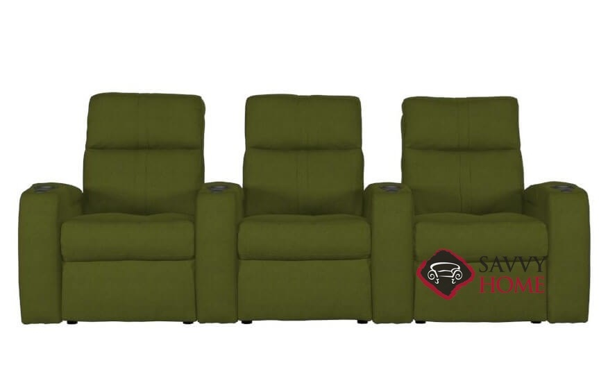 Flicks 3-Seat Power Reclining Home Theater Seating (Straight) with Consoles  by Palliser
