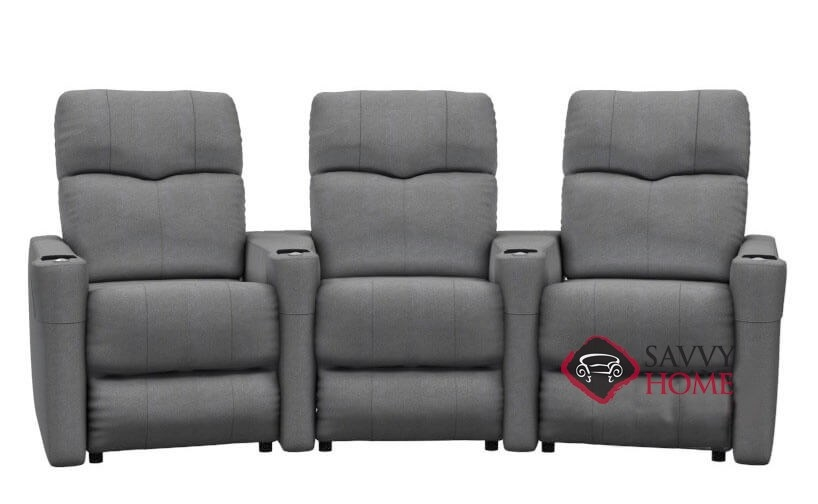 Techno 3-Seat Reclining Home Theater Seating (Curved) by Palliser--Power  Upgrade Available