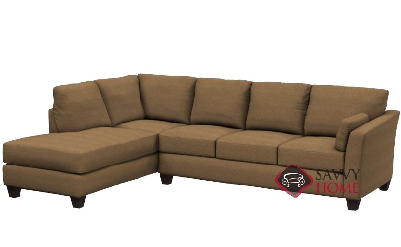 Quick-Ship Sienna Fabric Sleeper Sofas Chaise Sectional in Quentin Stone by  Savvy with Fast Shipping | SavvyHomeStore.com