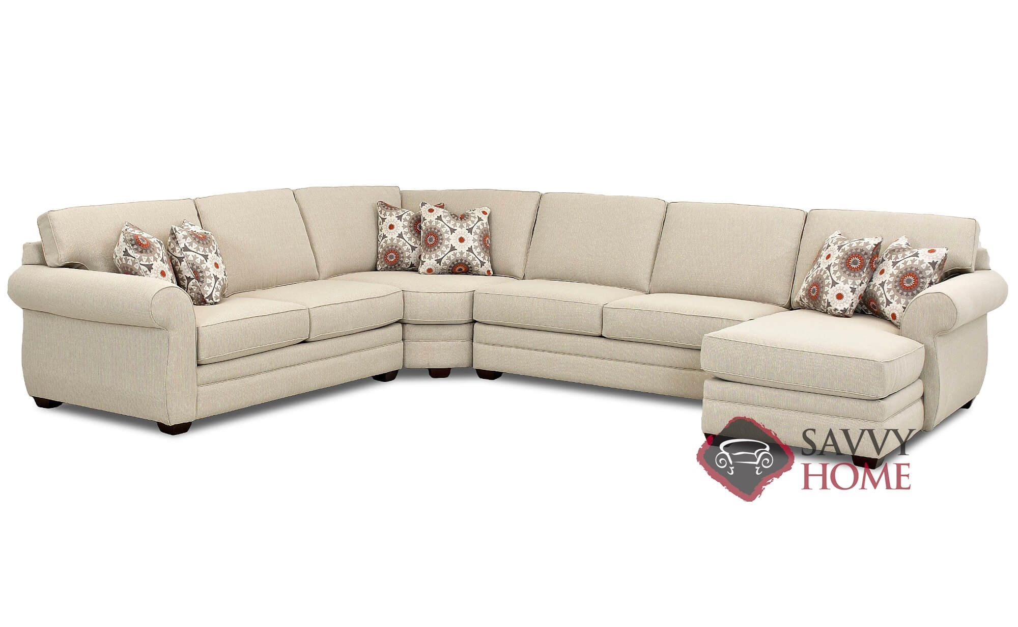 Canton by Savvy Fabric Sleeper Sofas True Sectional by ...